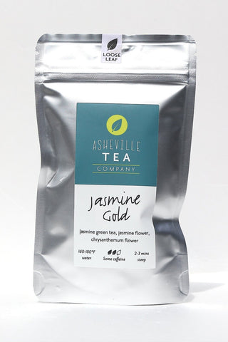 Asheville Tea 1 oz Loose Leaf Green Tea -Jasmine Gold- Some Caffeine