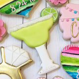 Margarita Glass Cookie Cutter Made from USA Tin Plated Steel By Ann Clark