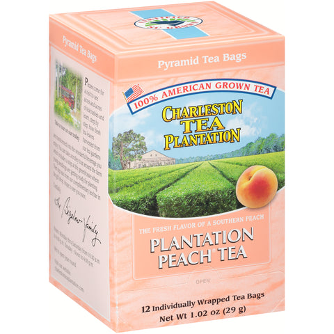 American Classic Tea Charleston Plantation Peach Flavored Tea 12 Tea Bag Servings