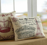 "Elysee Accent Pillow 14 ""X 18"" W/ FILLER STENCIL PARIS EIFFEL TOWER ~ CAROUSEL"