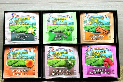 American Classic Tea Charleston Plantation Sampler Box 6 Flavors 18 Servings