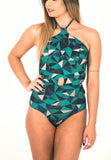 Abstract Green One Piece