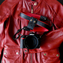Red Leather Camera Lift-Strap