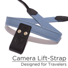 Light Steel Blue Canvas Camera Lift-Strap