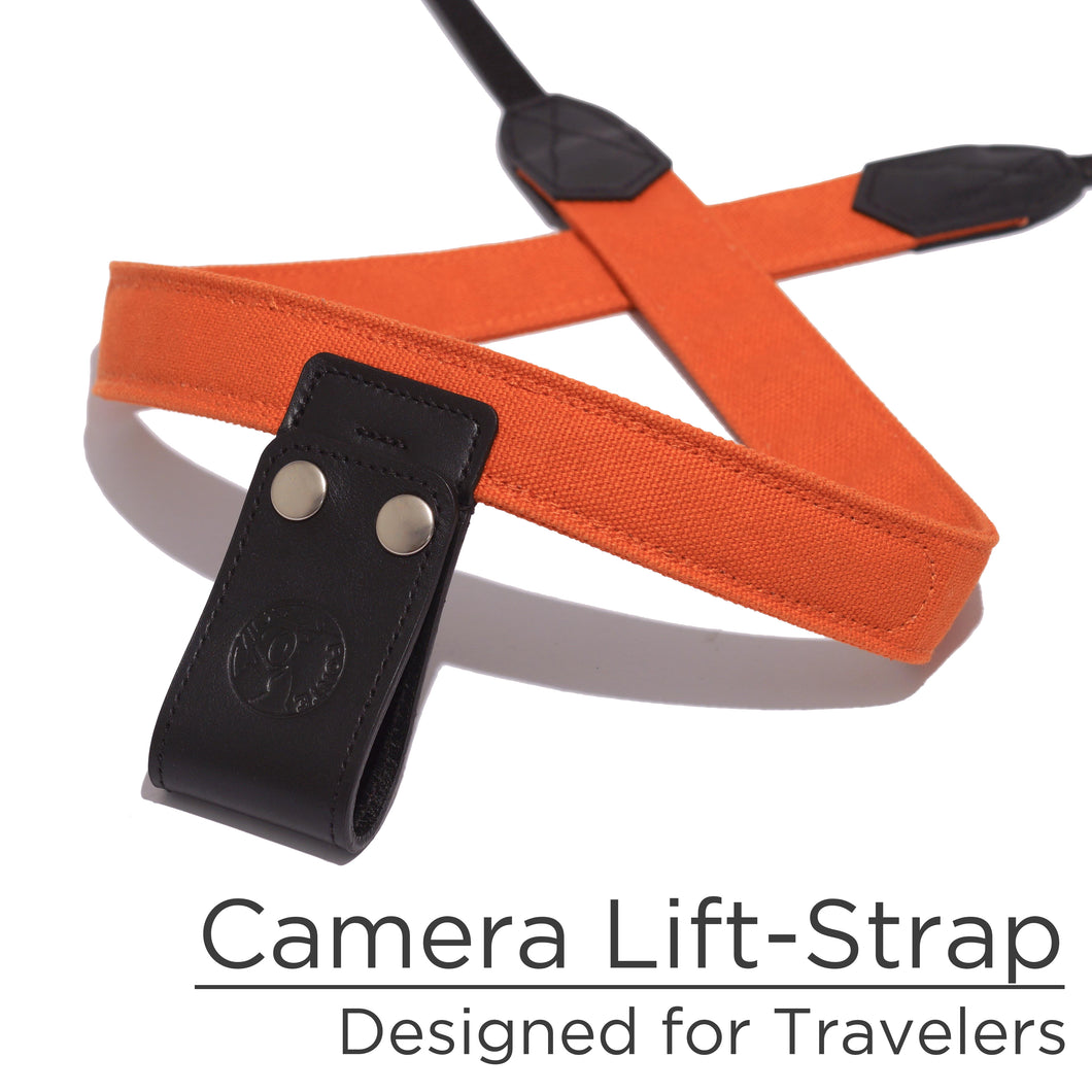 Burnt Orange Canvas Camera Lift-Strap