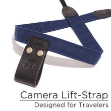 Midnight Blue Canvas Camera Lift-Strap