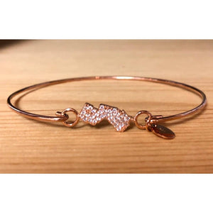 Bangle Bracelet with Pavé NJ Icon - Rose - Jewelry & Accessories