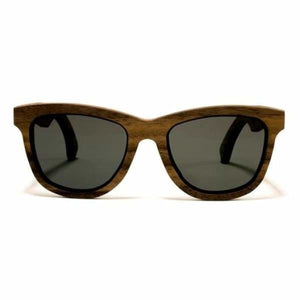 Bombay Sunglasses Handcrafted Wood - Walnut / Grey - Jewelry & Accessories
