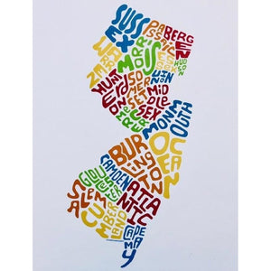 Counties Print - Multicolor Unframed - Prints & Artwork