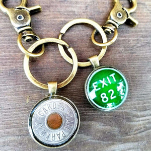 Custom Double-sided Parkway Token/Exit Sign Keychain - Jewelry & Accessories