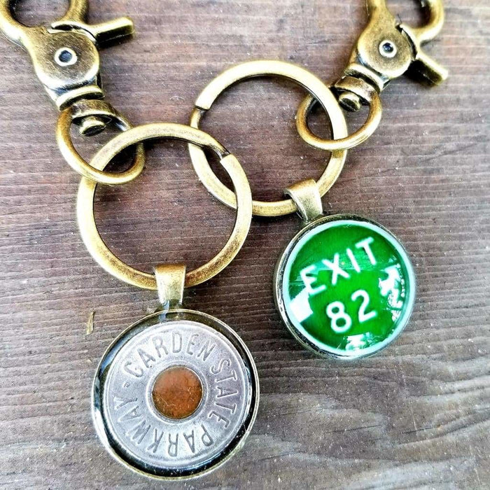 Custom Double-sided Parkway Token/Exit Sign Keychain
