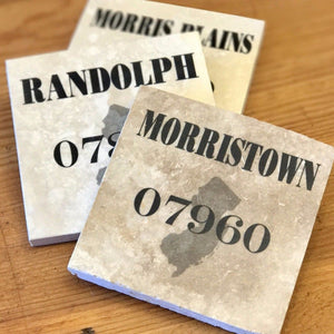 Custom Town Name/Zip Code Coaster - Home & Lifestyle