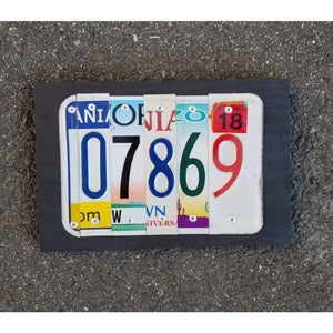 Custom Zip Code License Plate Sign - Mixed States - Home & Lifestyle