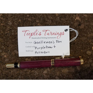 Gentlemens Pen Purpleheart Rollball - Books & Cards