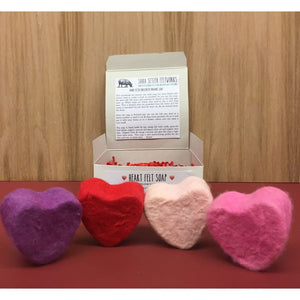 Heart Felted Soaps 4 pack - Bath & Body