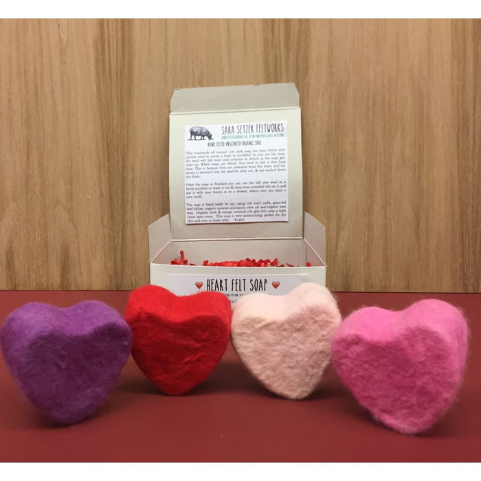 Heart Felted Soaps, 4 pack