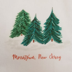 Holiday Kitchen Towel - Pine Trees Morristown - Home & Lifestyle
