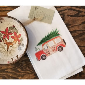 Holiday Kitchen Towel - Woodie Station Wagon - Home & Lifestyle