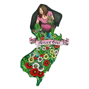 Jersey Girl in New Jersey Flowers - Prints & Artwork