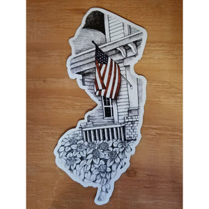 New Jersey Magnet - Flag - Books & Cards