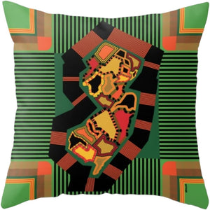 NJ State Pillow in Assorted Designs - Green Multi - Home & Lifestyle