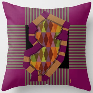 NJ State Pillow in Assorted Designs - Purple - Home & Lifestyle