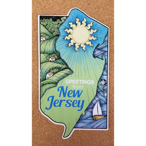 NJ Sun Land & Sea Magnet - Books & Cards
