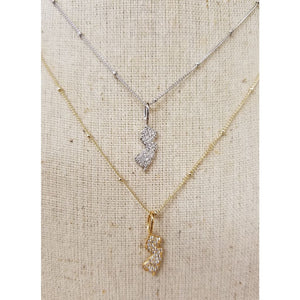 Pave NJ Icon Pendant Necklace - Jewelry & Accessories