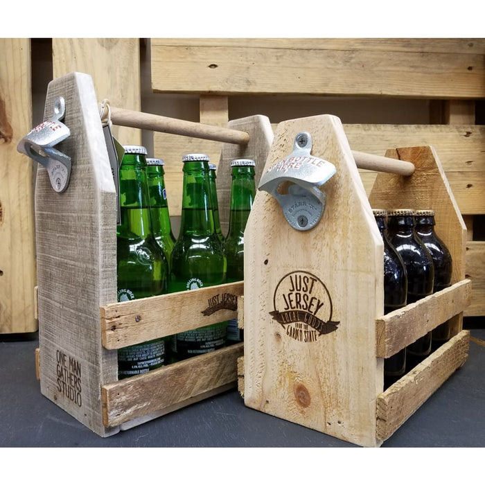 Reclaimed Wood Beverage Caddy