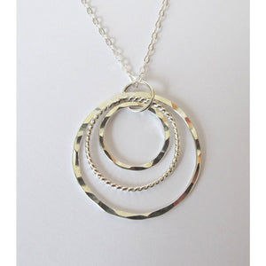 Sterling necklace with 3 Circle Twist - Jewelry & Accessories