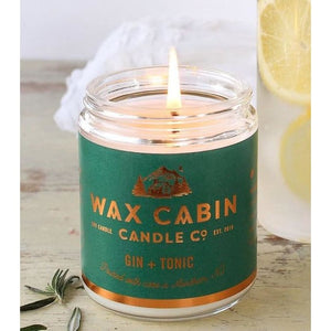 Wax Cabin Soy Candle 8oz. - Gin & Tonic - Home & Lifestyle