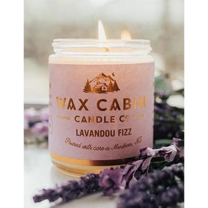 Wax Cabin Soy Candle 8oz. - Lavandou Fizz - Home & Lifestyle