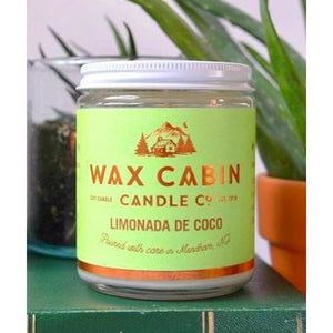Wax Cabin Soy Candle 8oz. - Limonada de Coco - Home & Lifestyle