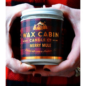 Wax Cabin Soy Candle 8oz. - Merry Mule Red Label - Home & Lifestyle
