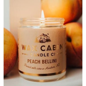 Wax Cabin Soy Candle 8oz. - Peach Bellini - Home & Lifestyle