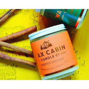 Wax Cabin Soy Candle 8oz. - Pumpkin Horchata - Home & Lifestyle