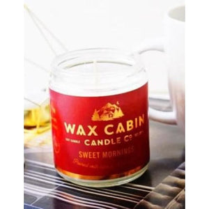 Wax Cabin Soy Candle 8oz. - Sweet Mornings Red Label - Home & Lifestyle