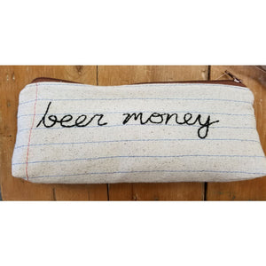 Zippered Pouch/Pencil Case - beer money - Jewelry & Accessories