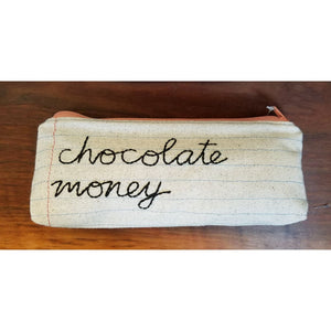 Zippered Pouch/Pencil Case - chocolate money - Jewelry & Accessories