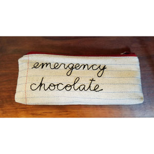 Zippered Pouch/Pencil Case - emergency chocolate - Jewelry & Accessories