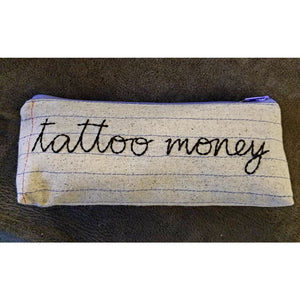 Zippered Pouch/Pencil Case - tattoo money - Jewelry & Accessories