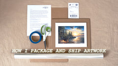 How To Package and Ship Artwork - The Best Way I've Found for Prints & Originals