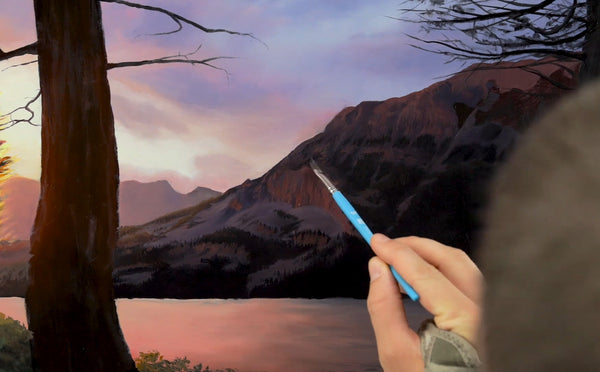 painting realistic mountains