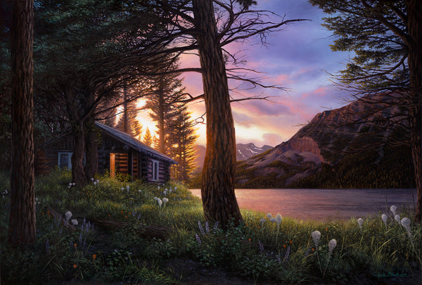realistic cabin painting