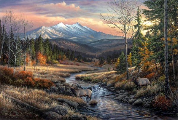 Landscape paintings with wildlife