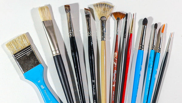 cleaning oil painting brushes - brush care