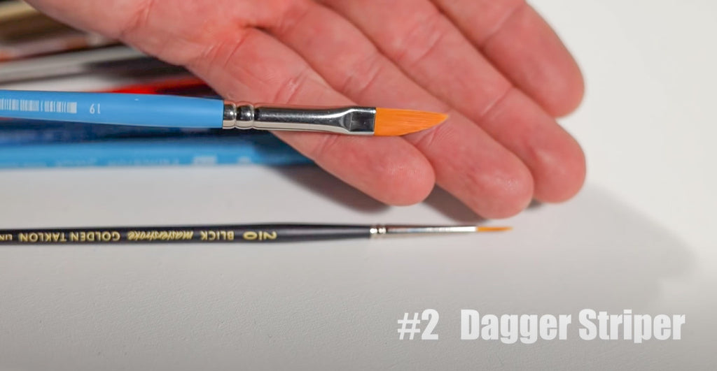 dagger striper brush for acrylic and oil painting