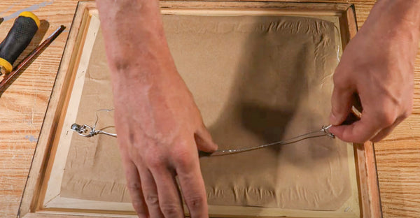 how to install wire to your framed artwork