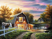 "Farmyard Barn Canvas Art Print - ""The Good Life"""