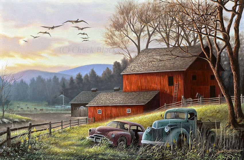 "Country Farm Landscape Art Print - ""Countryside Dream"""